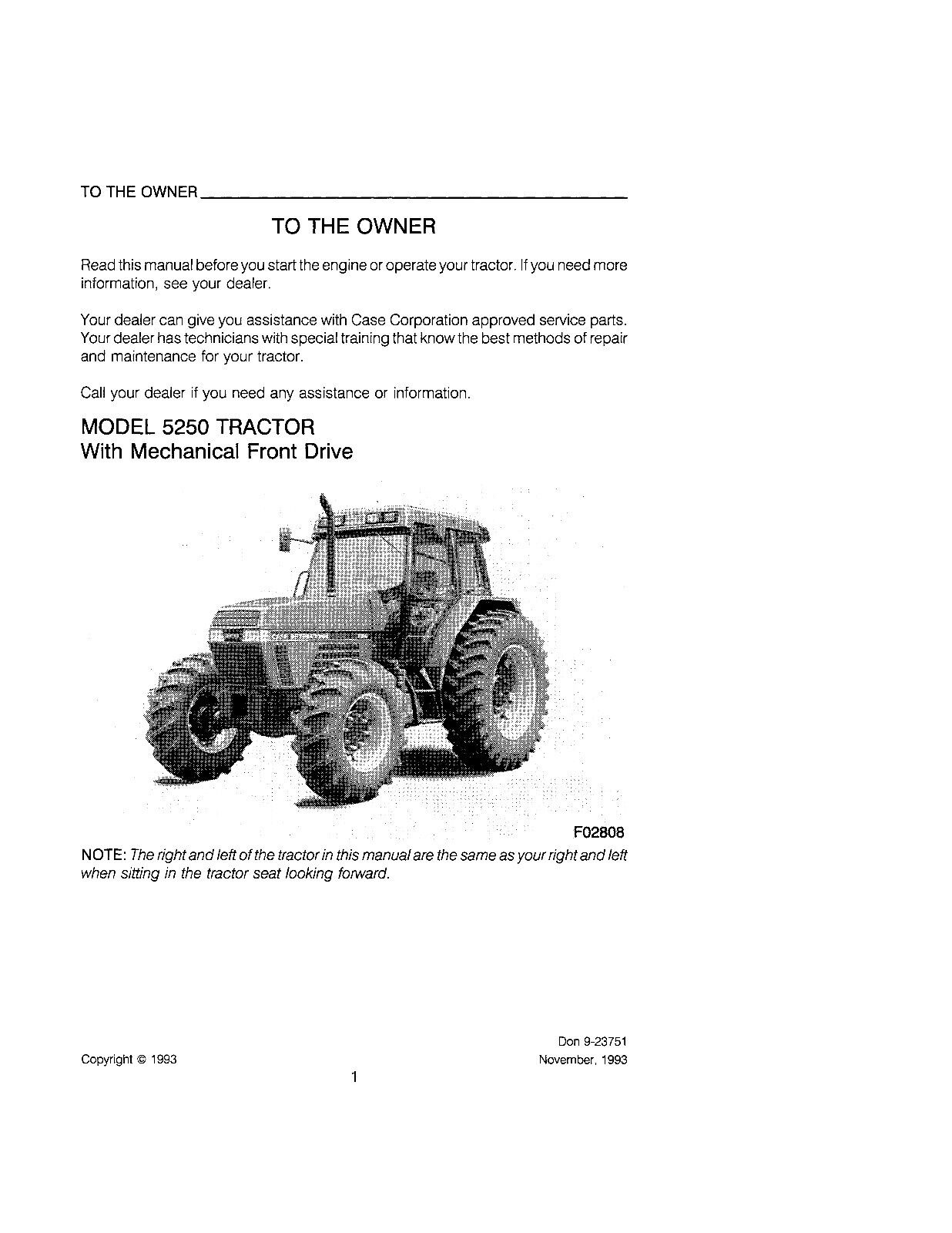 Case Maxxum 5220 5230 5240 5250 Tractor Operators Manual 9-23751 BOOK | eBay
