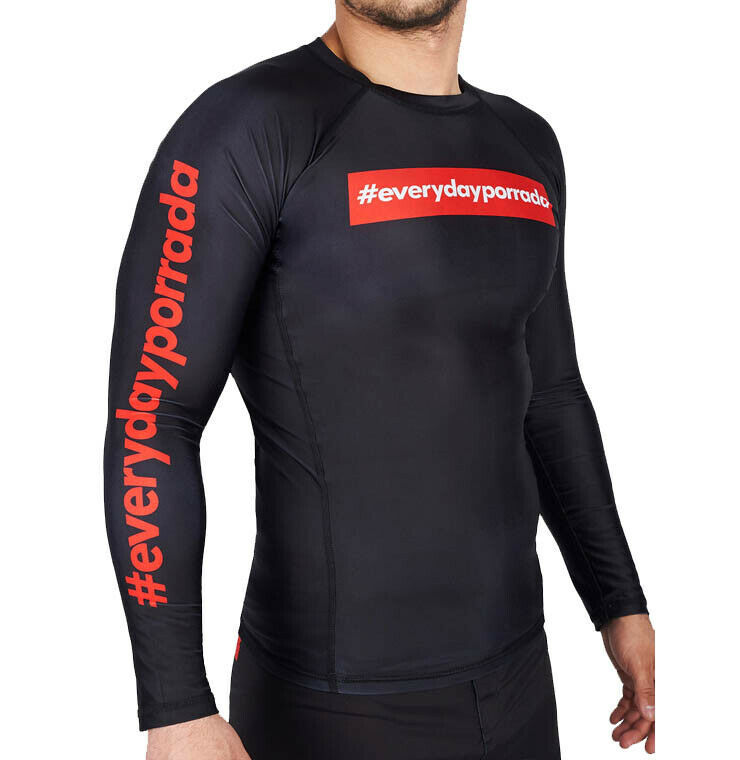 Manto Jeden Tag Porrada V2 Rash Guard Long Sleeve BJJ No-Gi MMA Jiu Jitsu