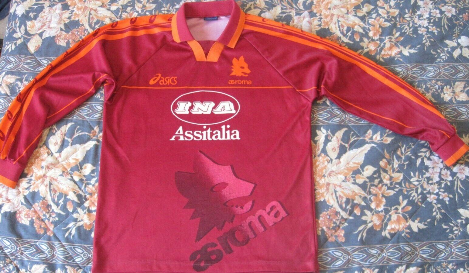 Maglia Camiseta Shirt Trikot AS ROMA Asics Vintage Long Sleeve Season 1997...