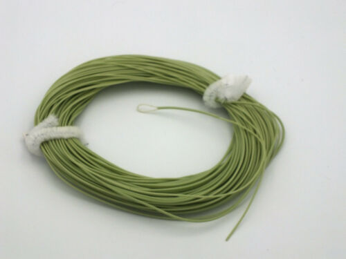 FLY LINE Weight Forward Floating 10wt Loop at leader end Moss Green 85/' LN444