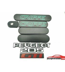 Kit-custode-Peugeot-205-GTI-GRIFFE-noire-Monogrammes-Peugeot-205-GTI