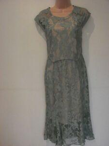 Lace Green Size 12 Shift Dress Party Dance Next 00 Light Wedding new £55 RwgqnSE