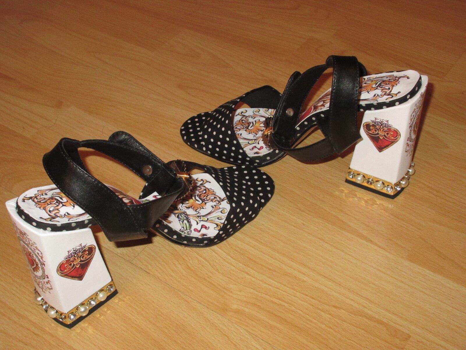 Designer Pumps Gr. 39 39,5 Schwarz Weiß Blogger Schuhe High Heels Runway