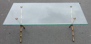 1950-70-039-Table-Basse-en-Bronze-Dore-Maison-Bagues-Modele-Bambou