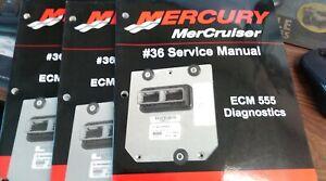 MERCURY SERVICE MANUAL # 36 ECM 555 DIAGNOSTICS SERIAL NUMBER OM300000 AND ABOVE