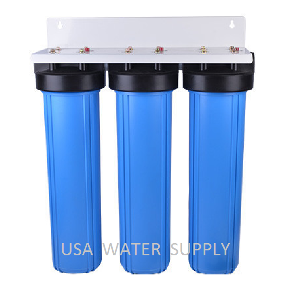 BIG bleu 20  WATER FILTER SYSTEM 1  TRIPLE WHOLE HOUSE COMMERCIAL
