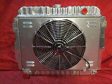 """1966-72 Mopar B & E Body Aluminum 26"""" Radiator + Shroud and Fan Roadrunner Cuda"""