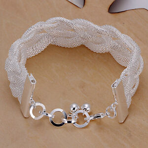 Jewelry & Watches Mit Sterlingsilber Firm In Structure Damenarmband Milanaise Spange Flecht 20cm Armband Pl Bracelets