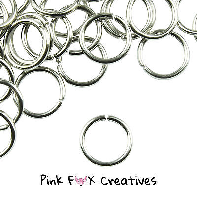 100pcs 5mm SILVER PLATED Jump Rings Metal Jewellery Finding Craft Necklace 0.7mm