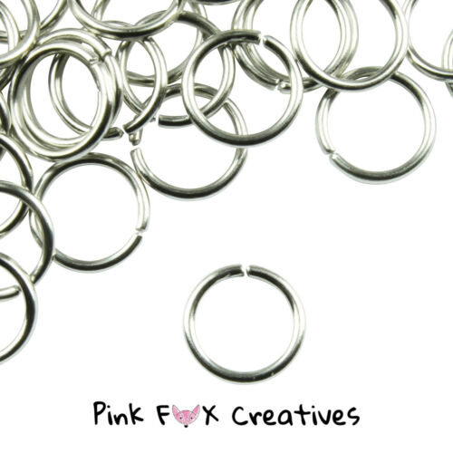 100 EXTRA STRONG SILVER PLATED JUMP RINGS FINDING 4,5,6,7,8,10mm CRAFT JEWELLERY