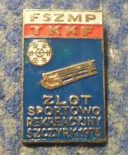 POLAND YOUTH SOCIALIST UNION WINTER MEETING SKI SKIING LUGE SZCZYRK 1975 PIN