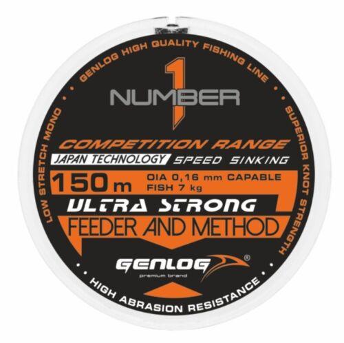 Angelschnur GENLOG NUMBER 1 FEEDER AND METHOD Feederschnur 150m 0,16-0,28mm TOP