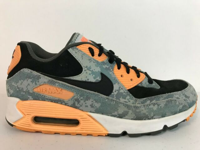 2016 Nike Air Max 90 Premium Digital Camo Blue Grey Black Size 9 (700155 400)