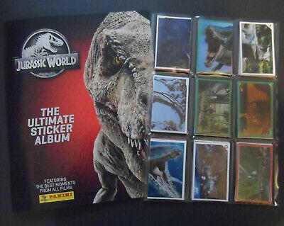 JURASSIC WORLD THE ULTIMATE STICKER Album RACCOLTA COMPLETA Figurine Panini