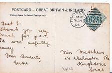 Genealogy Postcard - Family History - Matthews - Kingstone - Yorkshire   U3924