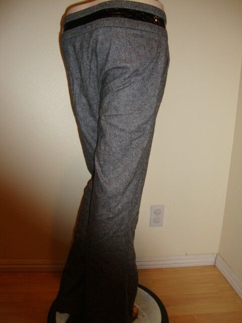 149 NWT BEBE CROCO TWEED CUFFED PANTS SIZE 10