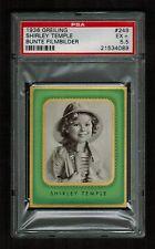 PSA 5.5 SHIRLEY TEMPLE 1936 Schwarz Weil Greiling Cigarette Card #249