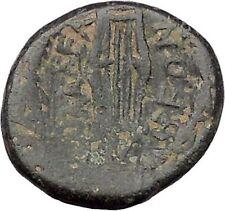 PHILADELPHIA Lydia 2CenBC Authentic Ancient Greek Coin ZEUS Kithara LYRE i46977