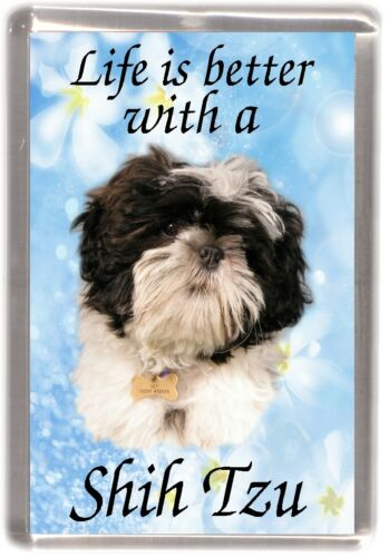 "Shih Tzu Fridge Magnet /""Life is better with a Shih Tzu/"" by Starprint"