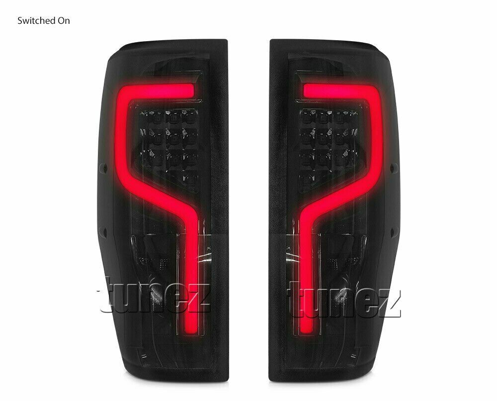 LED Smoked Sequential Rear Tail Lights Lamp For Ford Ranger PX T6 Wildtrak Tunez