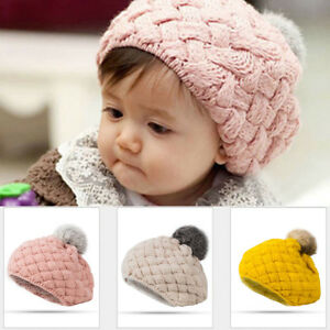 66c4bb2ab47f9 Details about Cute Toddler Kids Baby Girl Boy Winter Warm Crochet Knit Hat  Beanie Beret Cap