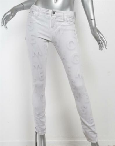 X 28 Bianco Lunghi Each Jeans Slim Media Other Altezza Stampino Skinny Lettera fgqwnAdxP