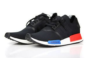 ADIDAS-NMD-R1-PK-PRIME-KNIT-OG-CORE-BLACK-LUSH-RED-S79168-MENS-RUNNING-SHOES-NEW