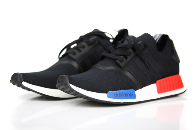 new concept 90695 acdae Adidas NMD_R1 PK Prime Knit OG Core Black Lush Red S79168 Mens Running  Shoes New