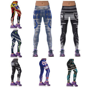 Women Gym Yoga Jogging Pants Fitness Trousers Football Team 3D Print ... c8b0282053