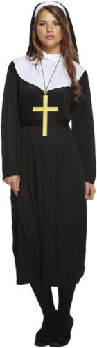 FANCY DRESS NUN VICAR CLERGY PRIEST FITS 10-14