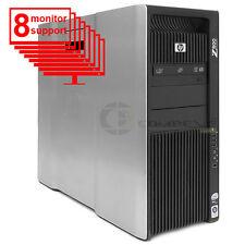 HP Z800 8-Monitor Multi-Display Computer 6-Core/12GB RAM/ 1TB HDD/NVS 450/Win10