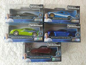 Lote-de-5-metales-Rapido-y-Furioso-Die-Cast-Collector-039-s-Series-Cars-1-32-Nuevo-Sellado