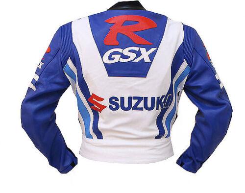 SUZUKI GSXR Veste en Cuir de Moto Veste de Motard en Cuir Veste en Cuir Motard