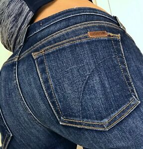 Joe-039-s-Olivia-Cropped-Flare-Mid-Rise-Cool-Off-Womens-Denim-Blue-Jeans-size-6-28