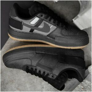 Nike-Air-Force-1-TYPE-2-Scarpe-Da-Ginnastica-Da-Uomo-Misura-10-Regno-Unito-EU-45-US-11-Nero-Marrone