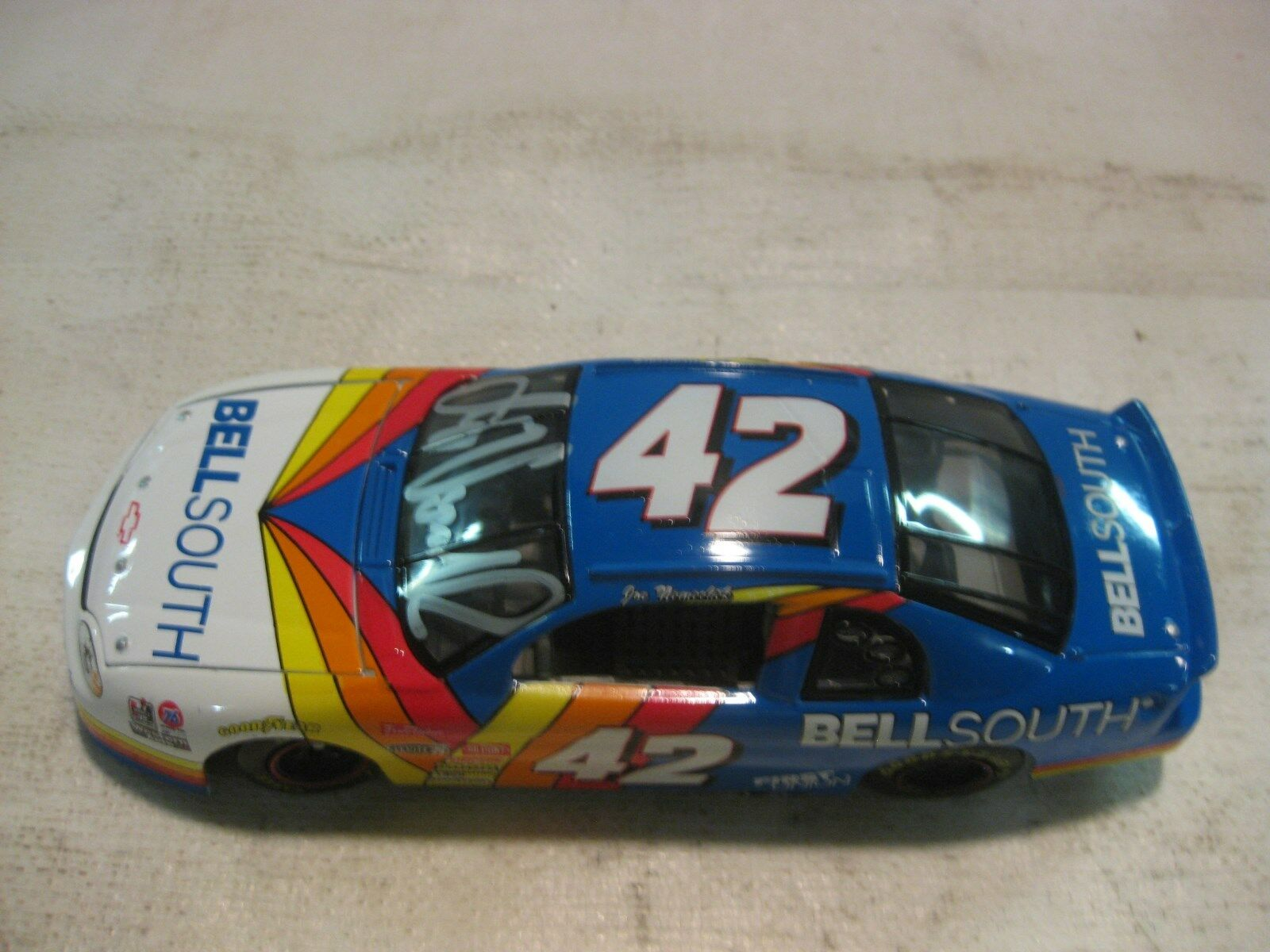 Nascar Signed Joe Nemechek Bell South Chevy 1 24 Scale Diecast Revell 1997