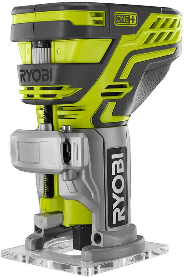 RYOBI 18-Volt ONE+ Cordless Fixed Base Trim Router Tool Free Depth Adjustment