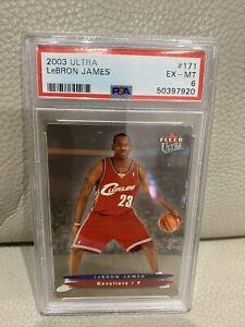 2003-04 Fleer Ultra #171 LeBron James Rookie Card RC PSA 6