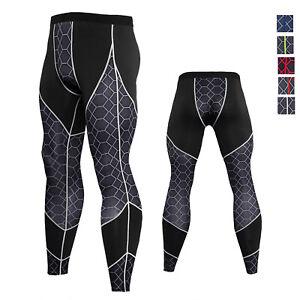 Men-039-s-Sports-Legging-Dri-fit-Breathable-Running-Basketball-Gym-Print-Long-Pants