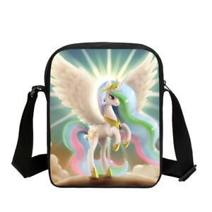 85a430fec017f5 Image is loading Angel-Unicorn-Rainbow-Small-Cute-Womens-Handbag-Cross-