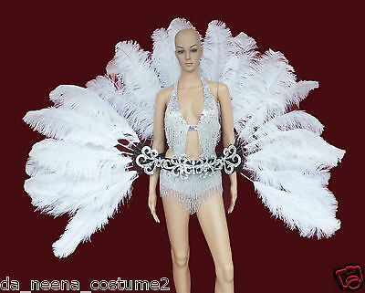 Da NeeNa C0277A Vegas Dance Cabaret Stage Showgirl Bird Tail Ostrich Belt