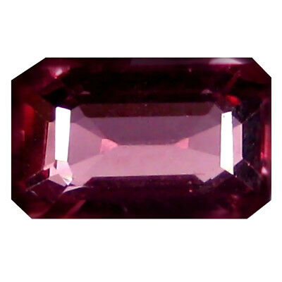 1.08 Karat Super-excellent Oktagon (7 X 4 Mm) Rosa Rot Rhodolit Granat Edelstein Modischer (In) Stil;