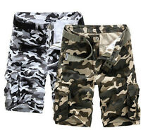 YI Mens Leisure Military Army Cargo Camo Combat Fashion New Work Pants Trousers