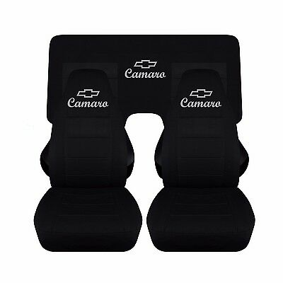 Fits 2010 To 2015 Chevrolet Camaro Black Seat Covers