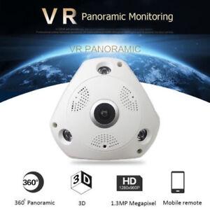 Details about 360° Fisheye 3D Panoramic CCTV Camera HD 960P WIFI Camera  Night Vision Webcam SH