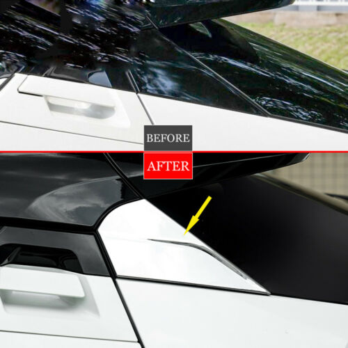 Chrome Rear Window Spoilers Wing Cover Trim For Toyota CHR C-HR 2016 2017 2018