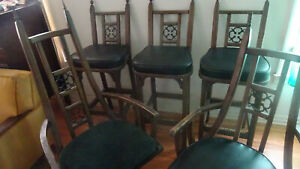 Details About 5 Vintage 1970 S Mediterranean Style Chairs Spanish Moroccan Rare