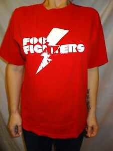 Foo-Fighters-Logo-Red-Cotton-T-Shirt-Size-Medium
