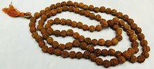 Genuine 108 Rudraksh Holy Prayer Mala Beads Buddhist meditation Hinduism Praying