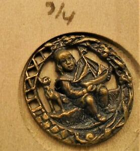 WOW-5-8-034-Child-with-Boat-Brass-Antique-Button-54-8